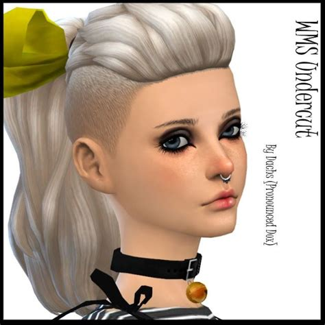 custom content hairstyles 4 sims 4 updates dachs sims hairstyles wms undercut