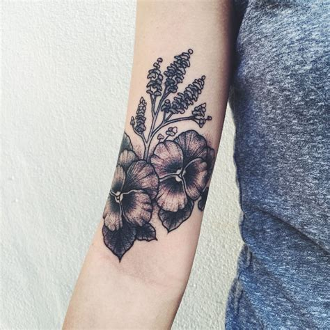 pansy flower tattoo by colleen at ink and dagger in roswell