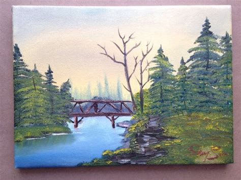 bob ross painting bridge 1000 images about learning to paint on