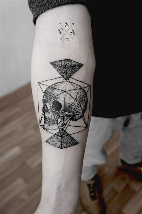 tattoo geometric skull 30 amazing dot work tattoo ideas