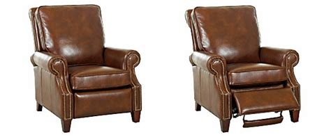 Bronson Recliner by Traditional Leather Pillowback Recliner W Nailhead Trim