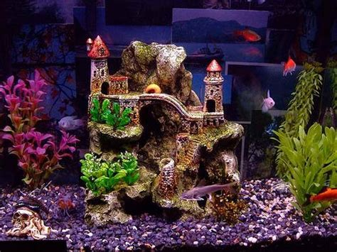 Decorating Ideas For Fish Tank Perking Up Dull Aquarium With Fish Tank Decoration Tankk