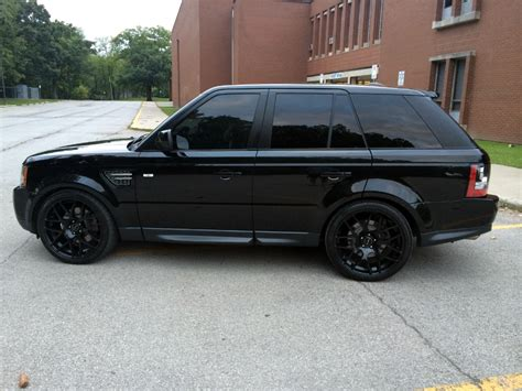 black land rover with black rims m310 wheels matte black range rover sport 1