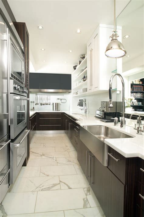 galley kitchen light fixtures galley kitchen lighting kitchen contemporary with chrome