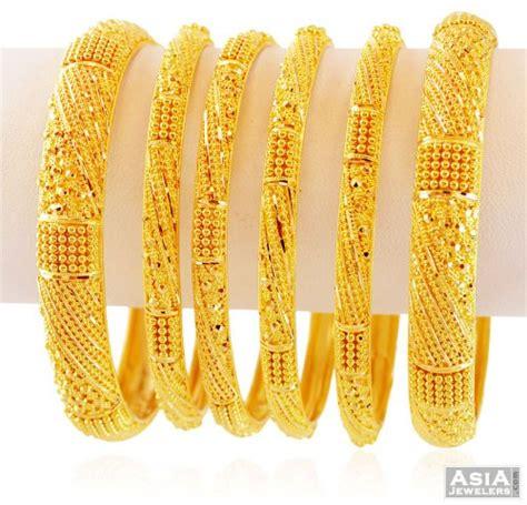 Bangles India Size L 9 22k indian gold bangles set of 6 asba59349 22k gold