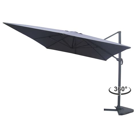 Parasol Rectangulaire Deporte Inclinable by Strand Gris Parasol D 233 Port 233 Rectangulaire 3x4m Rotatif 224