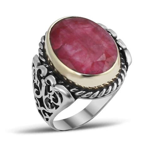 root ruby silver ring boutique ottoman jewelry store