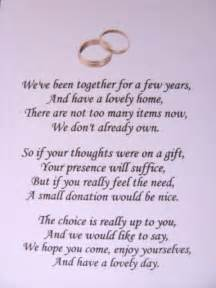 wedding gifts asking for money poems wedding invitation wording wedding invitation wording no gifts just money