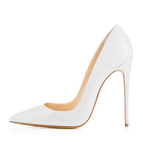 white office stiletto heels dress shoes pointy toe