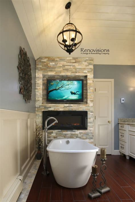 fireplace in bathroom wall 25 best ideas about spa master bathroom on pinterest