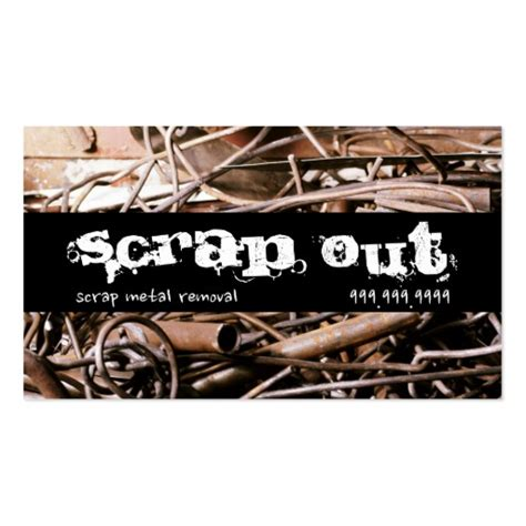 Similiar salvage business cards keywords scrap metal removal recycling junk business cards zazzle reheart Gallery