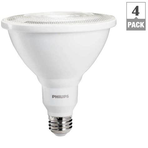 Lu Led Philips 100 Watt philips 100w equivalent daylight par38 ambient led indoor outdoor flood light 4 pack 460089