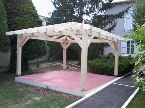 Design Garages kiosque en bois carr 233 ossature tenon et mortaise