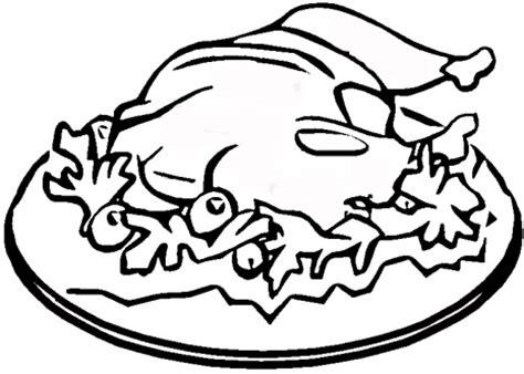 coloring pages of cooked turkey cooked turkey drawing clipart panda free clipart images