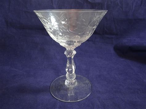 elegant barware etched crystal stemware elegant stemware by secondwindshop