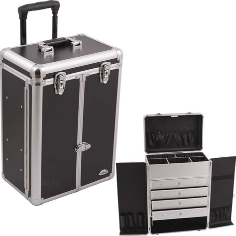 Makeup Cases With Drawers by C6008 Black Smooth 4 Drawers Rolling Cosmetic