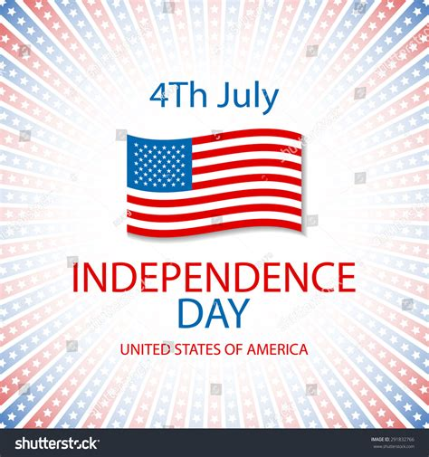 Independence Day Usa Essay by Set Banners Independence Day United States Stock Vector 291832766