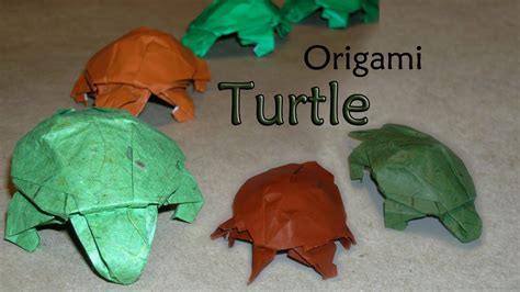 origami tutorial turtle origami turtle by robert j lang youtube