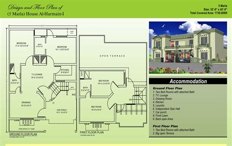 House Floor Plans With Pictures 5 Marla House Plans Civil Engineers Pk