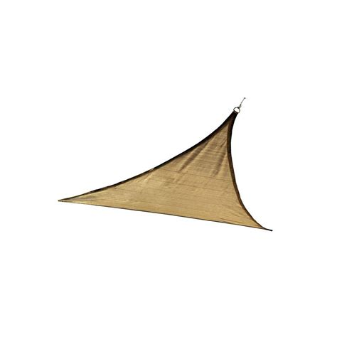triangle sail sun shade shelterlogic triangle sun shade sail sand 16 the home depot canada