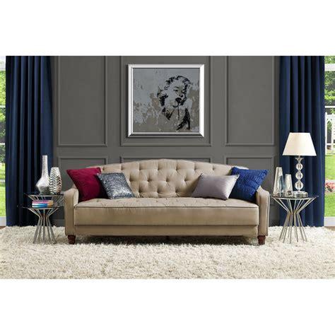 Living Rooms With Sofas by Novogratz Sofa Vintage Tufted Sleeper Ii Home Living Room