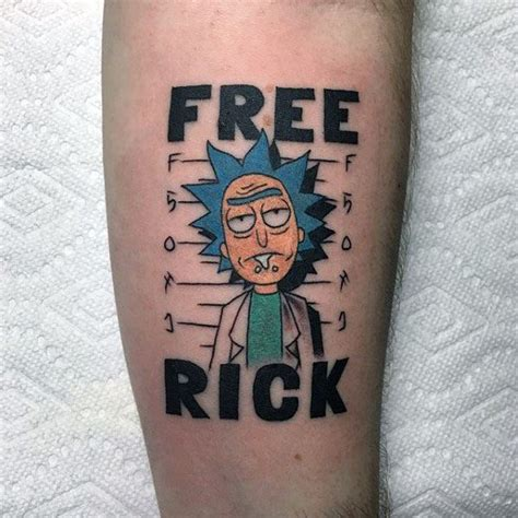 rick and morty tattoo 60 rick and morty designs for animated ink ideas