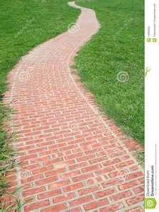 Zen Backyard Ideas Curved Red Brick Walkway Stock Photo Image 14682000