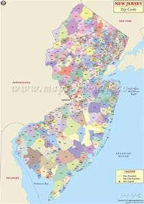 Jersey City Zip Code Map by New Jersey Zip Codes Map List Counties And Cities