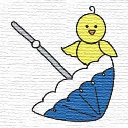 Gcp Monkey Umbrella Embroidered 1 million embroidery