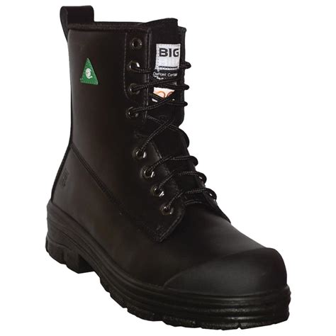black steel toe boots for big bill 174 s 8 quot leather steel toe work boot black