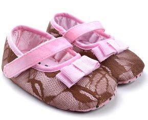 Sepatu Anak Pw Boot Coklat Bulu prewalker cewek brukat pita
