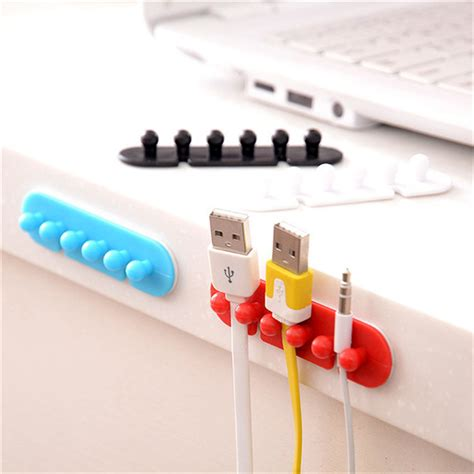Penggulung Kable Cable Cord Holder Sca015 happy sale 2x wire cord clip cable line holder tie fixer organizer drop adhesive cl dec21 in
