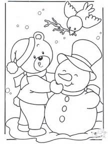 coloring page snow snow
