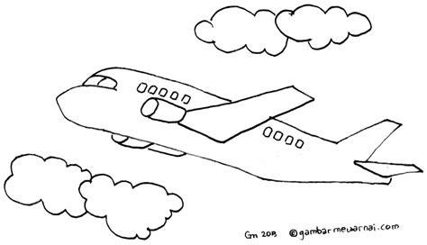 mewarnai gambar pesawat terbang gambar mewarnai