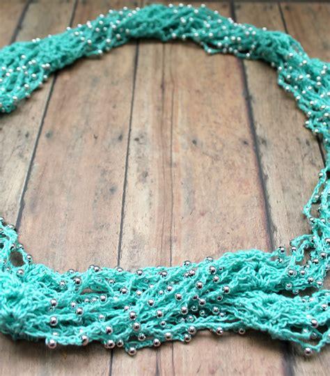 bead crochet tutorial the craft patch beaded crochet wrap necklace tutorial