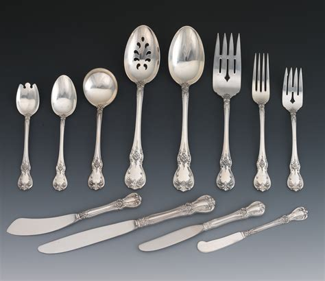 silver place settings a set of eight place settings towle quot old master quot sterling