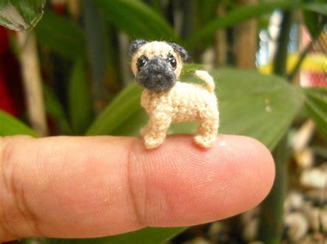 tiny pug micro miniature pug teeny tiny dollhouse miniature