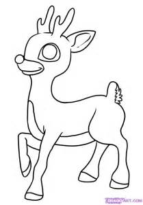 draw rudolph red nosed reindeer step step christmas stuff seasonal free