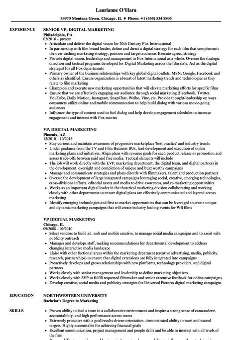 vp of marketing resume resume ideas