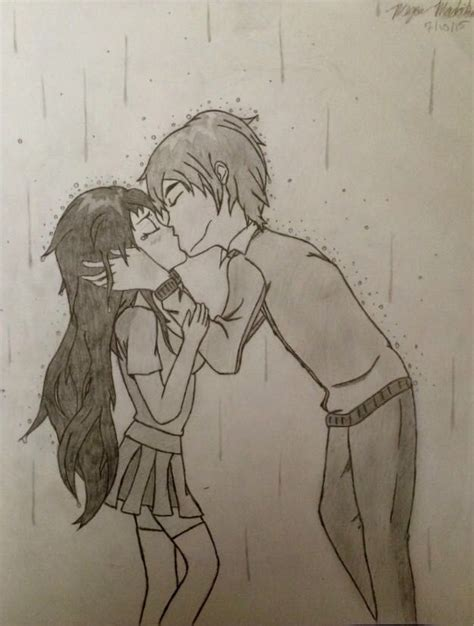 anime couples kissing sketches my anime drawing book finished anime couple kissing in