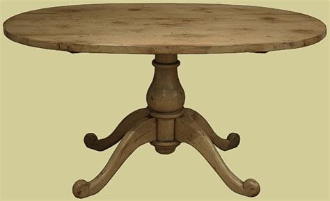 small oval top reproduction dining table on a pedestal base