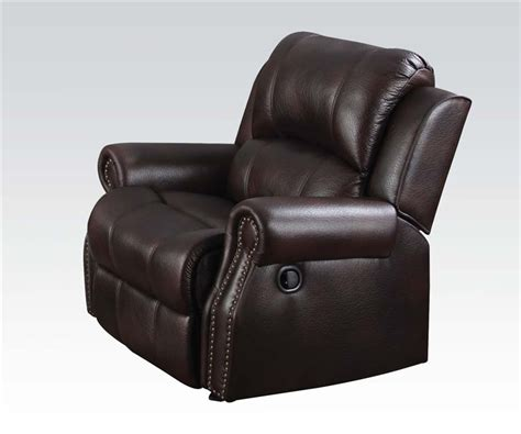comfort sure extended warranty josef reclining sofa in brown polished microfiber by acme