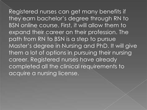 Rn To Bsn Virginia - the benefits of rn to bsn programs