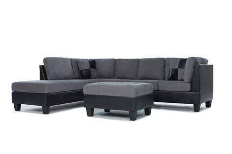 large 3 piece sectional sofa 3 piece modern grey microfiber reversible sectional sofa