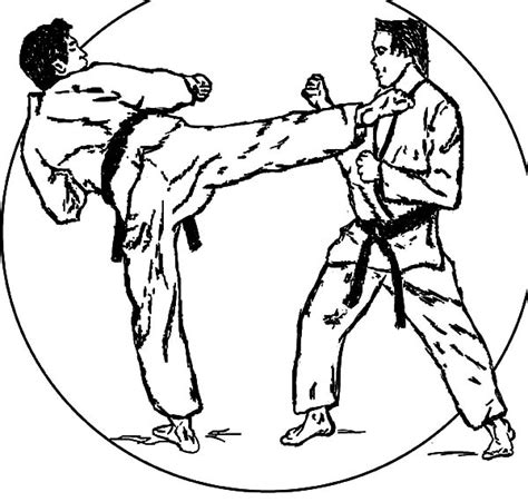 printable coloring pages karate free coloring pages of karate girl