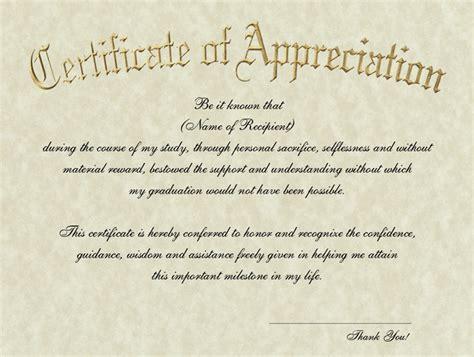 appreciation letter graduation extras signature announcements