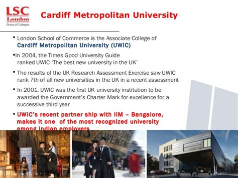 Cardiff Metropolitan Mba Ranking by Study With Lsc Highly Trusted College In