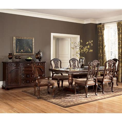 north shore dining room north shore pedestal dining room set signature design by ashley furniture furniturepick