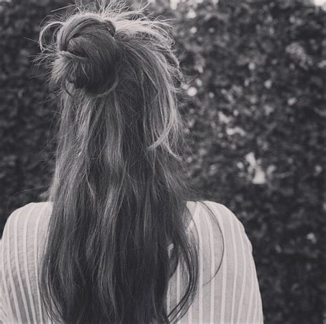 knotted half up half down hairstyles top knot bun half up half down hairstyle pinterest
