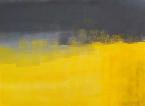 grey yellow acrylic abstract art painting yellow and grey modern